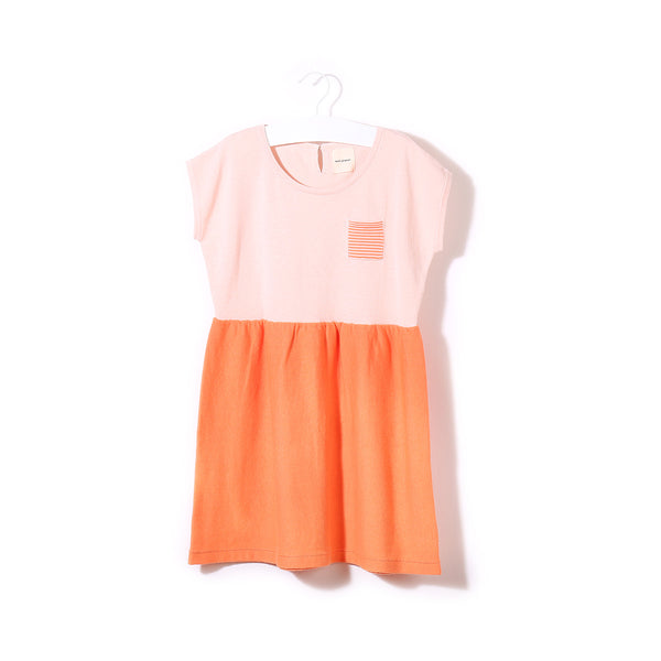 Ice Lolly Dress Pink/Peach