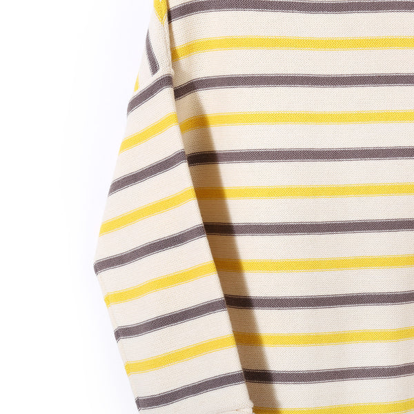 Boat Neck Jumper Choco/Yellow