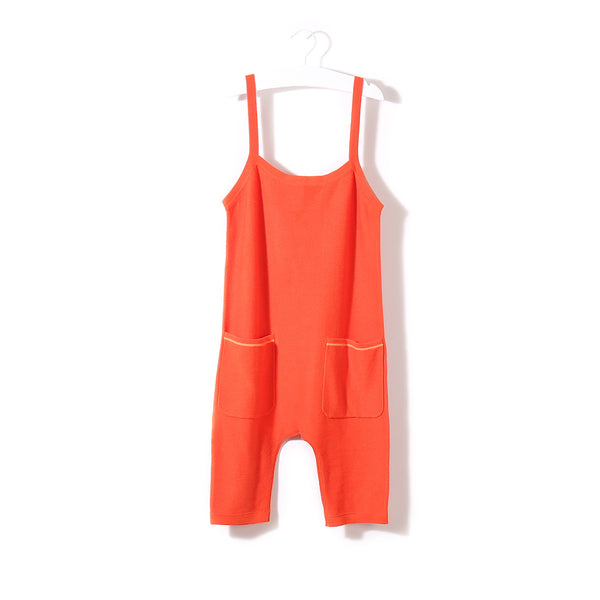 Pocket Playsuit Orange