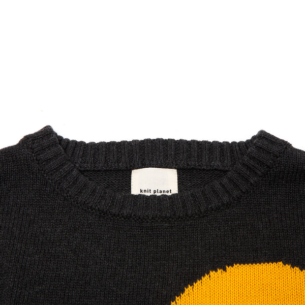 Graphic Jumper Dark Grey