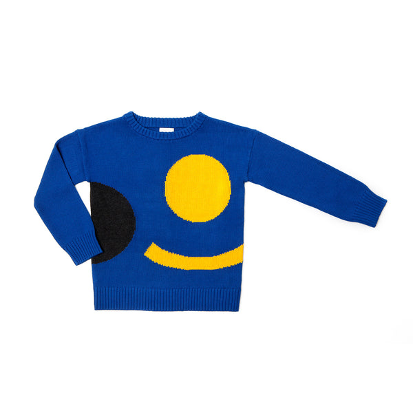 Graphic Jumper Blue