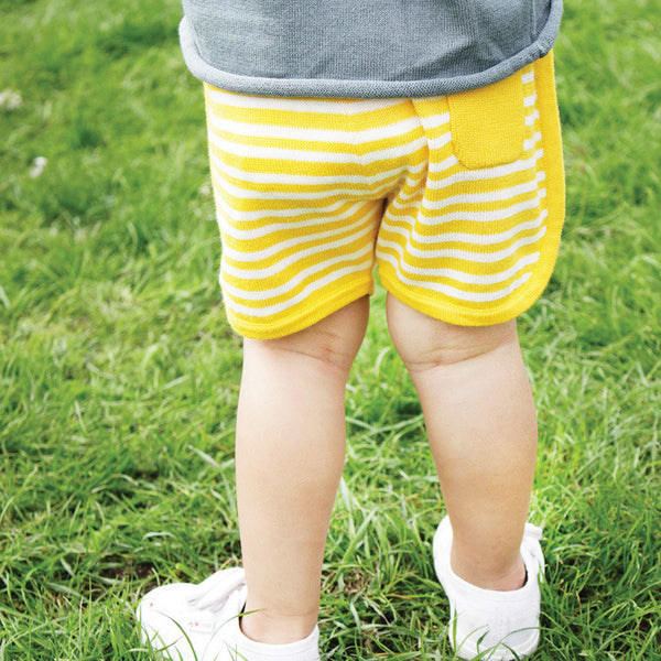 Love Summer Shorts Yellow