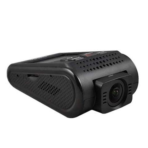 This compact vehicle video cam is simple to operate.