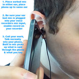 Turn on your recorder, put the ear bud in your ear, place your phone up to the same ear.