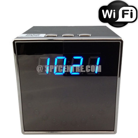WIFI Digital Clock Hidden Nanny Camera - Cube- Spy Centre Security