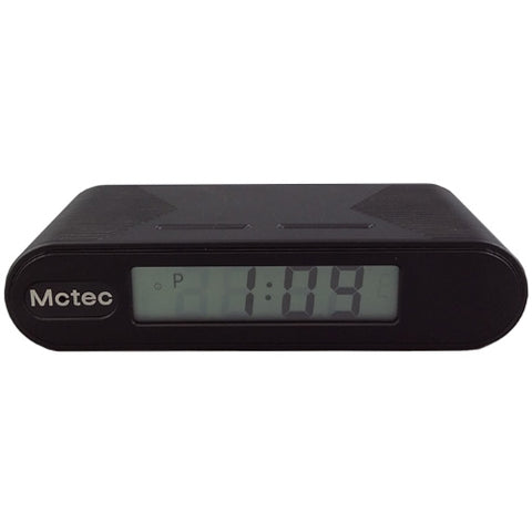 Sleek and modern looking digital clock. Blends into homes or businesses seamlessly.