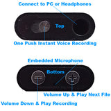 Clear recording sound with embedded amplified microphone & one button voice recording.