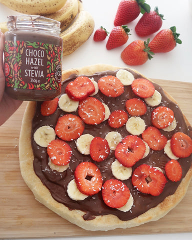 Chocolate Pizza with Choco Hazel Spread from Good Good Brand