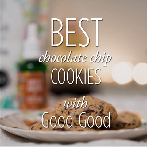 Best Chocolate Chip Cookies with natural sweeteners including Stevia and Erythritol