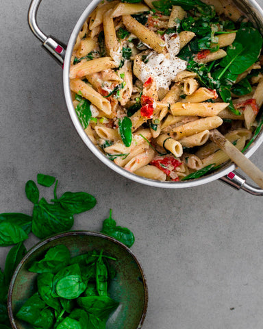 Healthy Meal Recipe ǀ Top 5 Best Sugarfree Healthy Meal With Recipe and Instructions Creamy White Wine Spinach Penne
