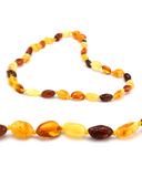 Polished Multi 4 Color Baroque Amber Teething Necklace