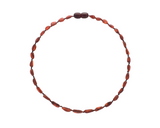 Raw Cherry Color Olive Amber Teething Necklace