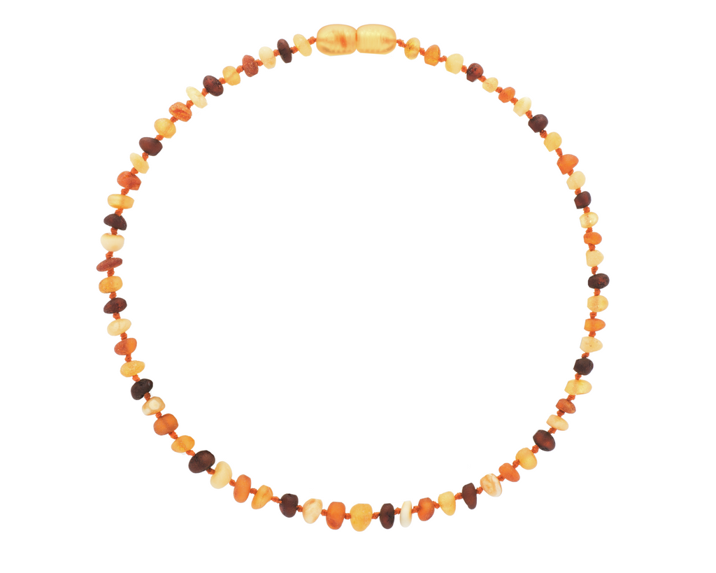 Raw Multi 4 Color Baroque Amber Teething Necklace