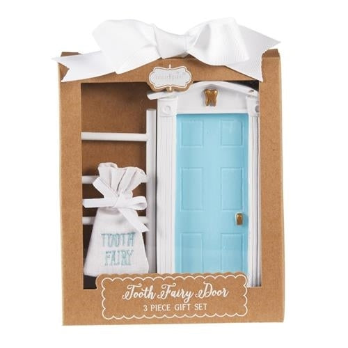 Tooth Fairy Door Gift Set | Blue/White - Tooth Fairy - Poshinate Kiddos Baby & Kids Gifts
