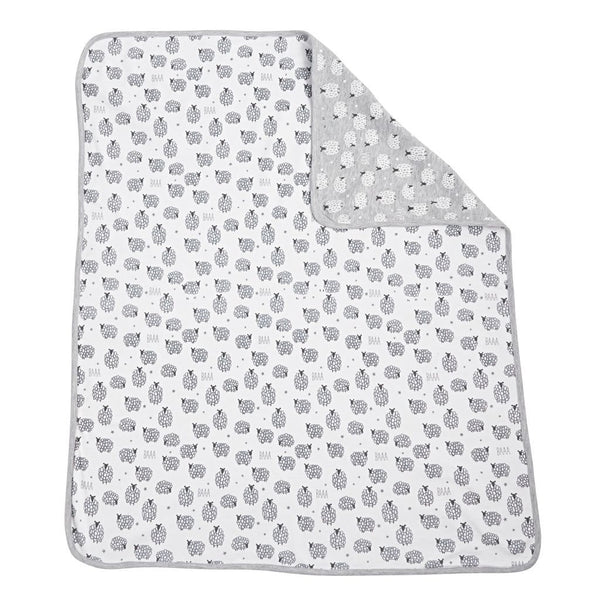Sheep Blanket | Grey & White - Blankets - Poshinate Kiddos Baby & Kids Boutique