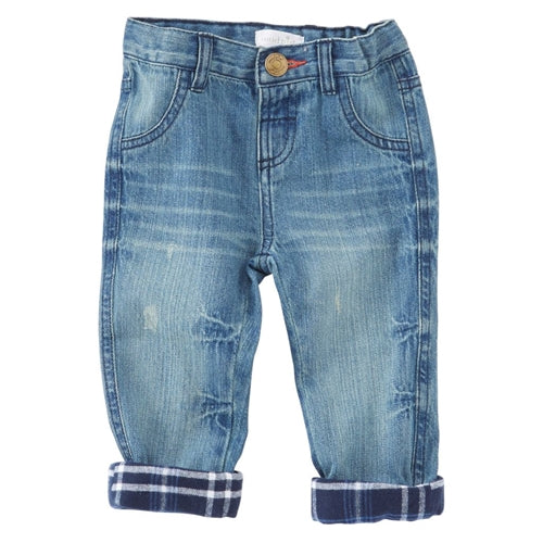 Boys Jeans | Plaid Lined - Boys Jeans - Poshinate Kiddos Baby & Kids Gifts
