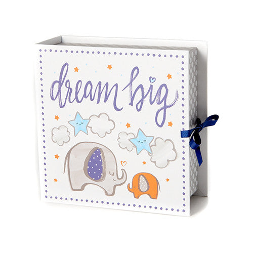 Baby Keepsake Box | Elephant | -Baby & Kids Keepsakes Memory Boxes- Poshinate Kiddos