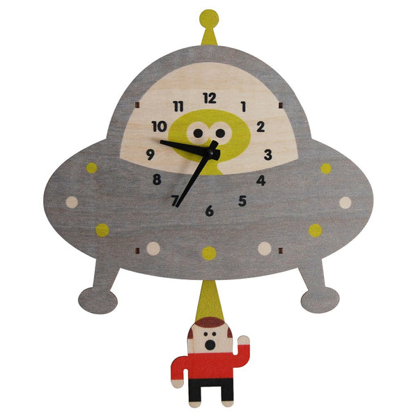 Pendulum Clock | Spaceship Saucer - Pendulum Clocks - Poshinate Kiddos Baby & Kids Store