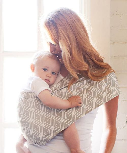 Baby Carrier | Grey/White - Baby Carriers - - Poshinate Kiddos