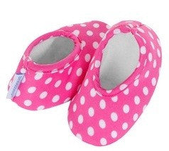 Baby Slippers | Pink Dot - Baby Footwear - 0-3 months / Pink Dots - Poshinate Kiddos