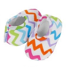 Baby Slippers | Chevron Stripe - Baby Footwear - 0-3 months / Chevron Stripe - Poshinate Kiddos