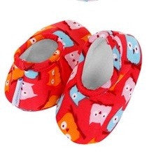 Baby Slippers | Owl Print - Baby Footwear - 0-3 months / Owls - Poshinate Kiddos