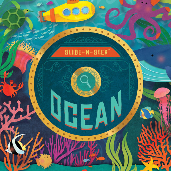Kids Book | Slide N Seek Ocean - Books and Activities - Poshinate Kiddos Baby & Kids Boutique - awesome interactive ocean book