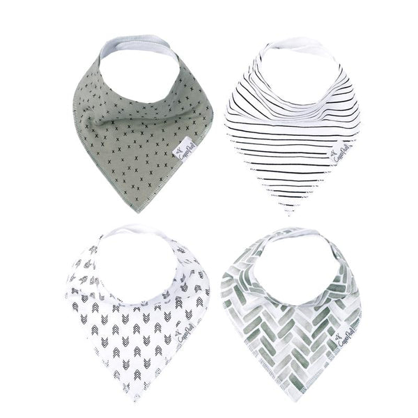 Baby Bibs | Bandana | Alta / Black & White 4-Pack - Baby Bibs - Poshinate Kiddos Baby & Kids Boutique - variety set of 4 bibs