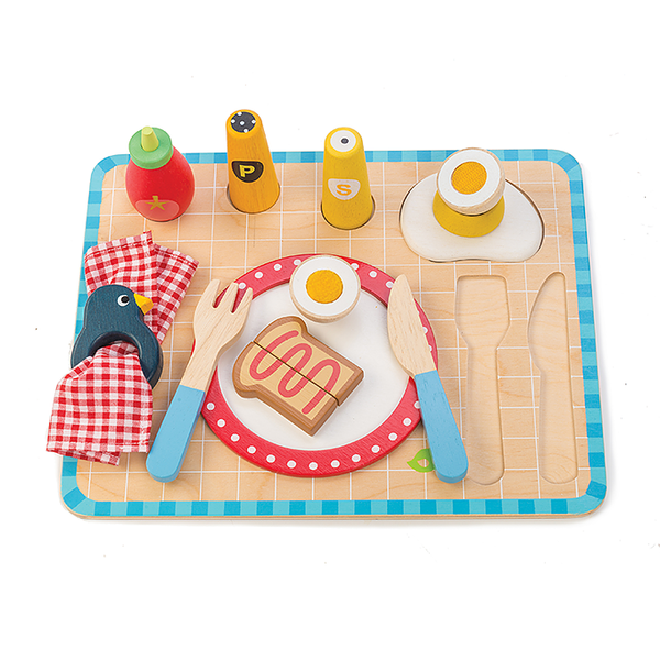 Wooden Toys | Kids Breakfast Tray | Sustainable - Kids Toys - Poshinate Kiddos Baby & Kids Gifts