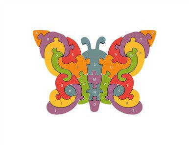 Wooden Butterfly A to Z Puzzle - Puzzles, Games & Toys -  - Poshinate Kiddos