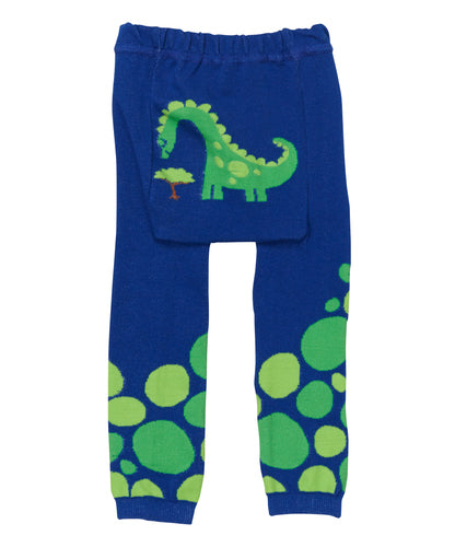 Baby Leggings | Dino | Navy Green Yellow | Poshinate Kiddos Baby & Kids Boutique | back