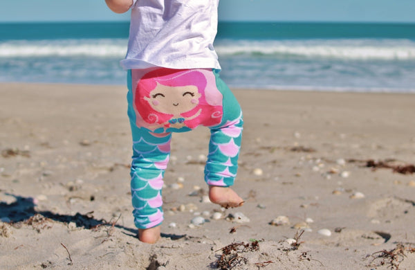 Baby Leggings | Mermaid | Teal Pink