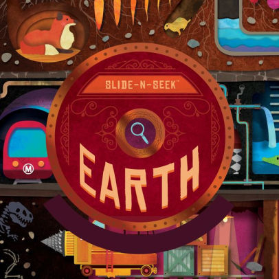 Kids Book | Slide N Seek Earth - Books and Activities - Poshinate Kiddos Baby & Kids Boutique - awesome interactive book about Earth