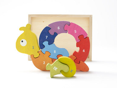 Wooden Number Snail Puzzle - Puzzles, Games & Toys -  - Poshinate Kiddos
