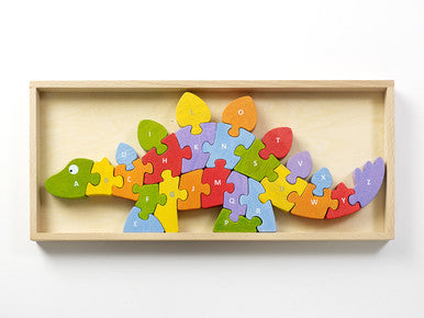 Wooden Dinosaur A-Z Puzzle - Puzzles, Games & Toys -  - Poshinate Kiddos