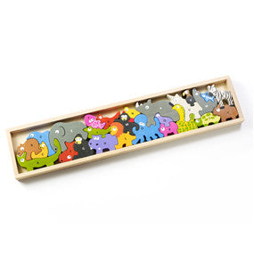Wooden Animal Parade A-Z Puzzle - Puzzles, Games & Toys -  - Poshinate Kiddos