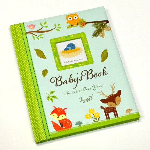 Baby Book | The First Five Years | Woodland Friends - Books and Activities - - Poshinate Kiddos