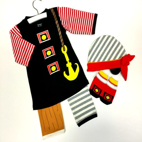Children's Pirate Outfit | Anchor Wood Leg