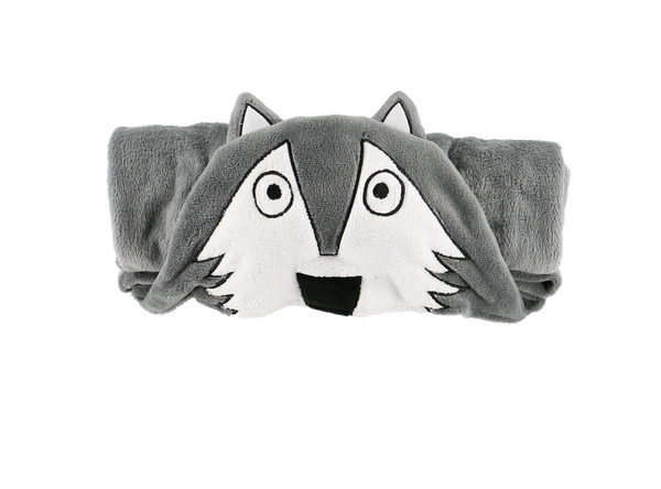 Hooded Kids Fleece Blanket | Wolf - Blankets - - Poshinate Kiddos