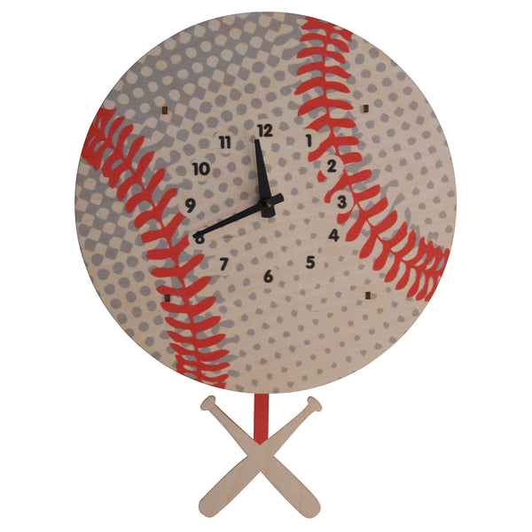 Pendulum Clock | Baseball - Pendulum Clocks - Poshinate Kiddos