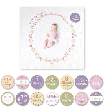 Baby's First Year Blanket & Card Set | Isn't She Lovely