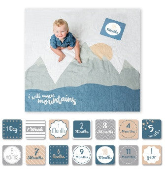 Baby's First Year Blanket & Card Set | I Will Move Mountains
