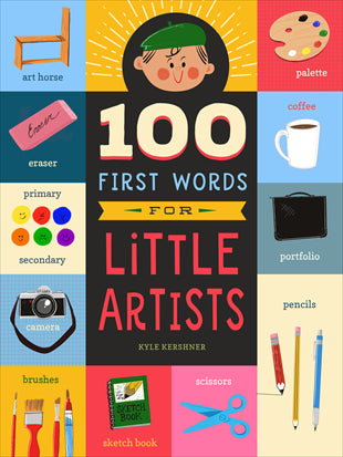 Kids Book | 100 First Words for Little Artists - Books & Activities - Poshinate Kiddos Baby & Kids Products - unique gift for aspiring little artist