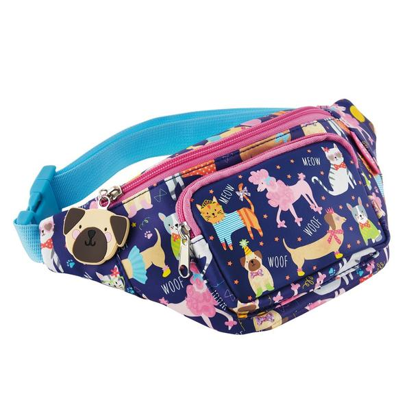 Kids Belt Bag | Dogs & Cats - Kids Accessories - Poshinate Kiddos Baby & Kids Boutique | Dogs & Cats pattern