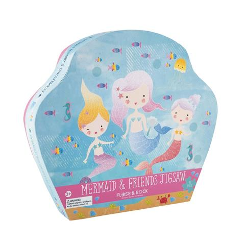 Kids Puzzle | Mermaids Jigsaw - 40 pc - Puzzles. Games & Toys - Poshinate Kiddos Baby & Kids Gifts | Mermaid puzzle 40 pieces