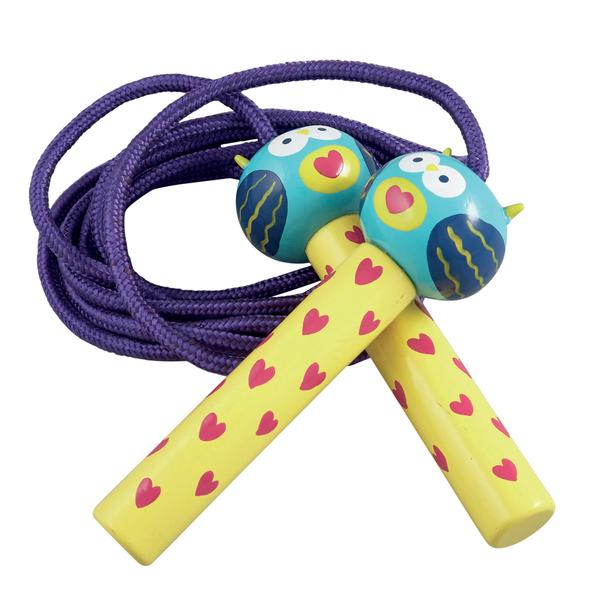 Kids Jump Rope | Purple Owl - Puzzles, Games & Toys - Poshinate Kiddos Baby & Kids Boutique - owl wooden handles