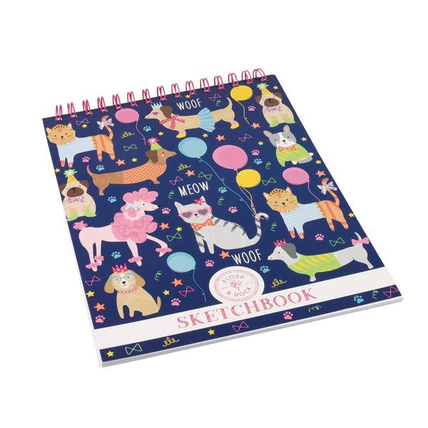 Kids Sketchbook | Dogs & Cats - Books and Activities - Poshinate Kiddos Baby & Kids Boutique - Dogs Cats pattern sketchbook