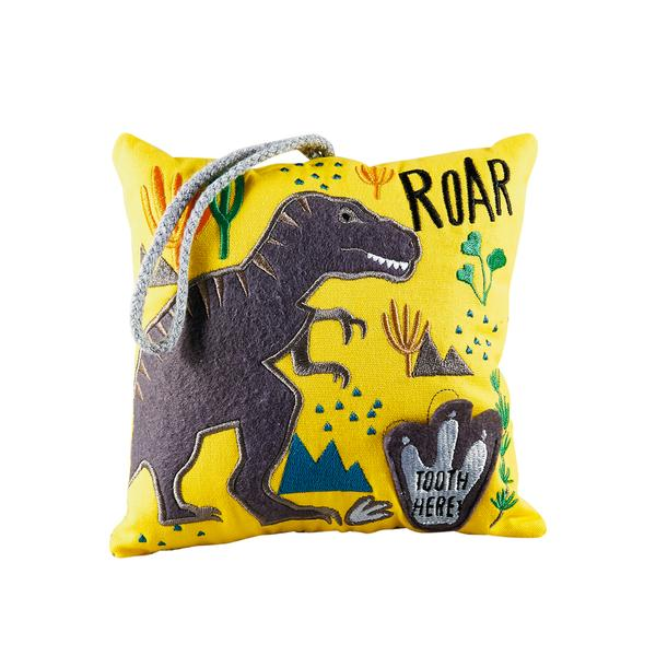 Kids Tooth Fairy Pillow | Dinosaur - Tooth Fairy - Poshinate Kiddos Baby & Kids Boutique | Dinosaur pattern