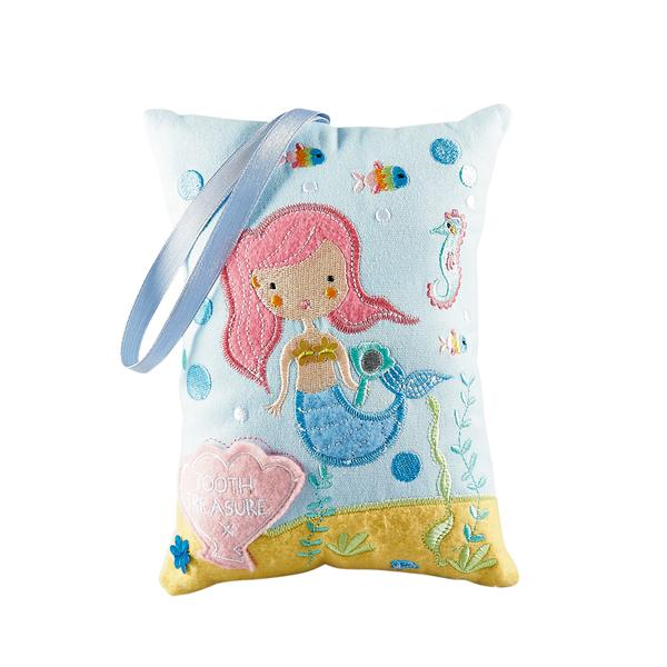 Kids Tooth Fairy Pillow | Mermaid - Tooth Fairy - Poshinate Kiddos Baby & Kids Store | Mermaid pattern