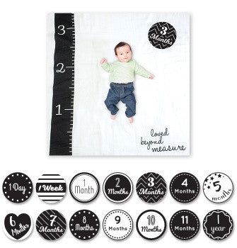 Baby's First Year Blanket & Card Set | Loved Beyond Measure -Blankets- Poshinate Kiddos